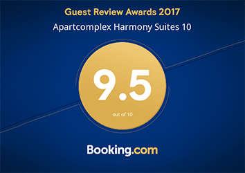 Harmony Suites earned a highly-coveted perfect 9.5 review score